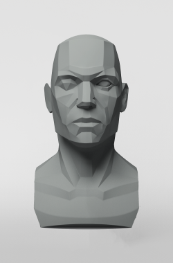 3dtotal Anatomy: Male planar bust