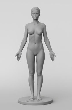 3dtotal's anatomical collection: female full skin figure