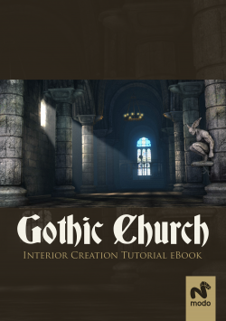 Gothic Church Interior Creation - modo (Download Only)