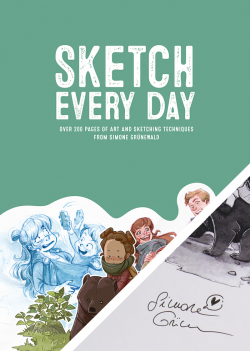 Sketch Every Day - Simone Grünewald - with signed bookplate